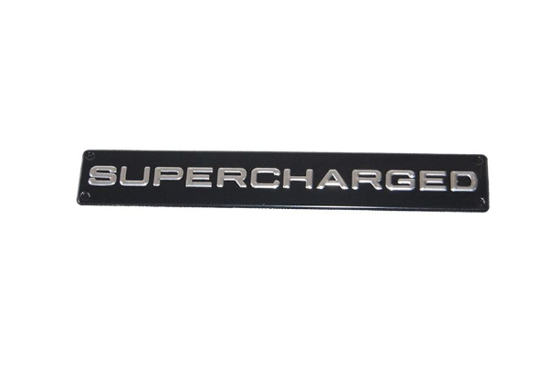 Black and Silver Supercharged Emblem